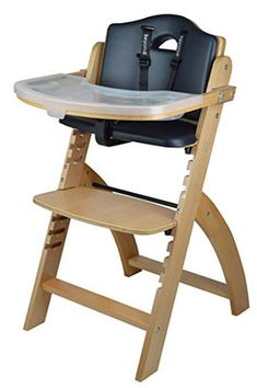 Abiie Beyond Wooden High Chair With Tray. The Perfect Adjustable Baby Highchair Solution For Your Babies and Toddlers or as a Dining Chair. Months up to 250 Lb) (Natural Wood - Olive Cushion) Price Best Baby High Chair, Best High Chairs, Cream Cushions, Black Cushions, Chair Cushions, Toddler Chair, Baby Chair, Wood High Chairs, Modern High Chair