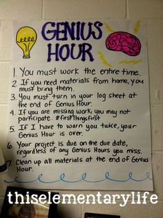 My Experience with Genius Hour - This Elementary Life Inquiry Based Learning, Project Based Learning, Early Learning, Learning Time, Deep Learning, Genious Hour, Gifted Education, Early Education, Physical Education
