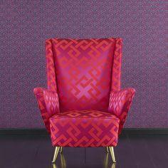 LOVE by Dedar - An elegant, dynamic geometric pattern. Colours draw inspiration from precious traditional Chinese silks.