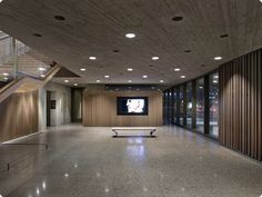 Approximately 75 Nite Star™ illuminate the Clyfford Still Museum's main lobby, restoration lab and several flow through spaces between the main galleries. The fixtures are recessed into the case concrete ceilings.  Product(s) Used: Nite Star™ Halogen (MR16) Architect	Allied Works Architecture Lighting Design: Arup Sales Representative: Lighting Agency Photo Credit © Raul Garcia  #Lighting #InteriorDesign #Ideas #Lights