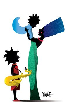 The women of the Simpson family all Afro-centric :) Marge, Maggie & Lisa... Work-it!!!