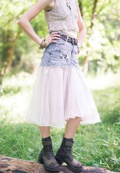 Mary Ruth Pursselley transforms an ugly bridesmaid dress into a punk rock skirt, inside Altered Couture.