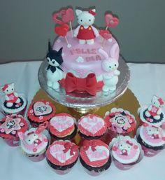 Hello Kitty y cupcakes aniversario