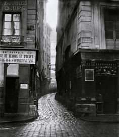 distinguishedcompany:  lifeofawhiskeydrinker: charles marville, rue tirechappe, from rue saint-honoré, paris, 1858-78