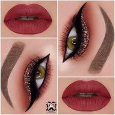 136 best maroon matte lipstick shades to look stunningly beautiful Makeup Eye Looks, Beautiful Eye Makeup, Smokey Eye Makeup, Pretty Makeup, Eyeshadow Makeup, Lip Makeup, Beauty Makeup, Makeup Kit, Eyeshadow Palette