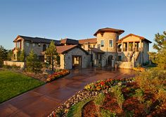 Mediterranean-style Stone | Leading Denver residential architects, Godden Sudik Architects ...