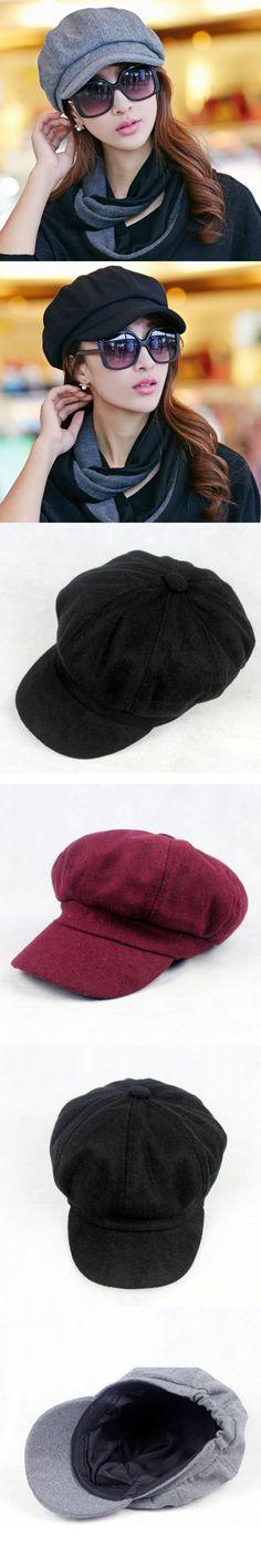 2016 Spring and Autumn Fashion Boina Hats for Women Newsboy Caps Plaid Beret Cap Dipper Hat 3 Colors Chapeu $11.98