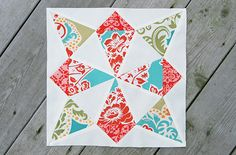 Solstice Stars Series : Whirling Star — Fresh Lemons Modern Quilts  paper pieced block with tut- clear instructions and lots of pictures