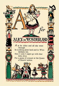 A for Alice in Wonderland 20×30 poster Ships within 5-10 business days.  Item is custom manufactured.