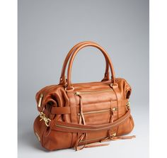 Botkier brown leather 'Venice' three side zip satchel