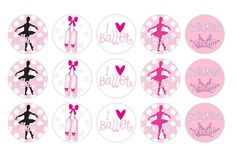 It's A Small WWW: Free Printable Ballerina Bottle Cap Image Design