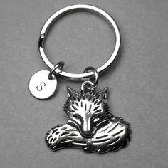 Fox keychain Fox charm Personalized by chrysdesignsjewelry on Etsy