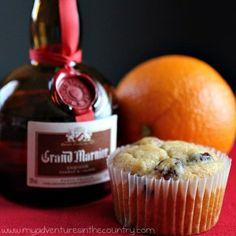 Grand Marnier Cranberry Muffins (Adapted from Diane Mott Davidson's novel, Killer Pancake)
