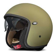 Premier Jet Vintage Helmet - Military Green - THE CAFE RACER | FREE UK DELIVERY
