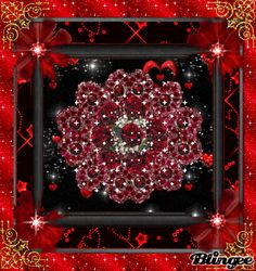 Red Rose Glitter Graphic | red glitter roses blingee tags glitter gold hearts red roses