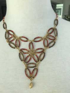New Auth Chan Luu Red Mix Seed Bead Statement Necklace  | eBay