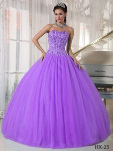 Lavender Ball Gown Sweetheart Quinces Dresses for Wholesale Price