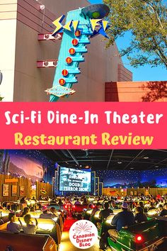 We review on of the best themed restaurants at Walt Disney World, the Sci-Fi Dine-In Theater Restaurant. Find out why we think this restaurant is perfect for kids and adults and what you can expect when you dine here. #CanDisBlog #DisneyFamily #FamilyVacation #DisneyFood #DisneyRestaurant #DisneyTips #DisneyReview #DisneyFoodie #HollywoodStudios Best Disney World Food, Dining At Disney World, Disney Dining, Disney World Resorts, Disney Vacations, Disney Drinks, Disney Snacks, Disney Food, Walt Disney