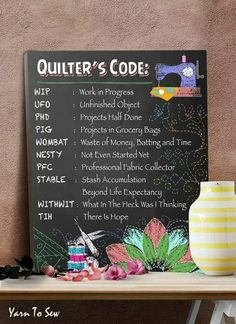 Discover Quilter's Code High Quality Canvas Print T-Shirt, a custom product made just for you by Teespring. Quilting Room, Quilting Tips, Quilting Tutorials, Quilting Projects, Sewing Projects, Vinyl Projects, Sewing Humor, Quilting Quotes, Sewing Quotes