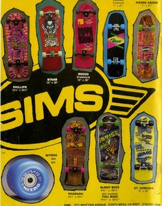 Sims Vintage Skateboard Ad