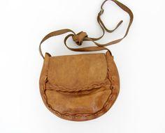 Vintage bag / 70s boho tooled leather purse by nemres on Etsy
