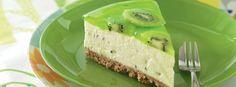 No Bake Kiwi Fruit Cheesecake