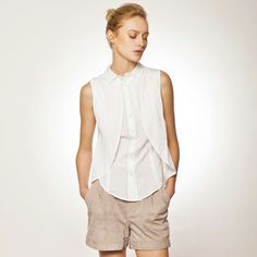 Have a fresh summer! White Cotton Blouse, Cotton Blouses, White Blouses, Black Cotton, Collars For Women, Blouses For Women, Summer Shirts, Summer Tops, Black And White Shirt