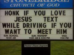religious sarcasm :)