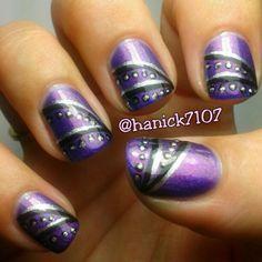 Purple lines & dots