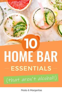 Top Ten Essential Items for a Home Bar (Not Including Alcohol! Easy Drink Recipes, Best Cocktail Recipes, Sangria Recipes, New Recipes, Healthy Recipes, Sweet Cocktails, Bourbon Cocktails, Classic Cocktails, 10 Essentials