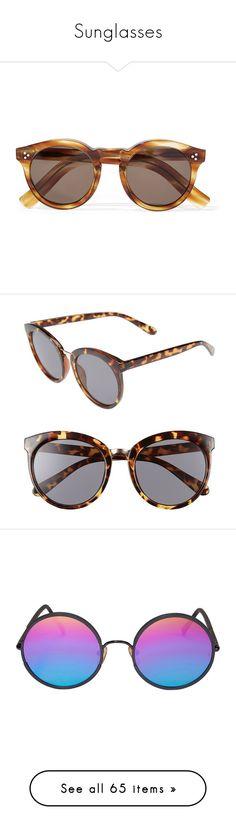 """Sunglasses"" by pbshirreff ❤ liked on Polyvore featuring accessories, eyewear, sunglasses, glasses, fillers, tortoiseshell, round tortoiseshell glasses, illesteva sunglasses, tortoise shell sunglasses and acetate sunglasses"