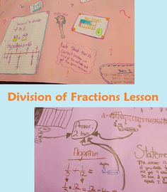 Division of Fractions - A differentiated, Common Core lesson  student work examples are shown