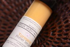 Turmeric Primer Serum | Brija Skin - The new liquid turmeric primer serum moisturizes the skin without leaving it greasy and reduces redness. Use as a makeup primer AND a skin care serum. #crueltyfreebeauty #veganbeauty