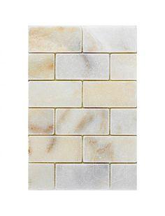 Afyon Sugar 2x4 Brick Pattern Tumbled Marble Mesh Mounted Mosaic Tile #afyon_sugar_marble_ #brick_pattern_marble_tile Brick Patterns, Glass Mosaic Tiles, Tile Floor, Marble, Mesh, Sugar, Kitchen, Home Decor, Cooking