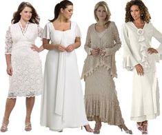 Bridal dresses for older brides mature bride wedding for Appropriate wedding dresses for second marriage