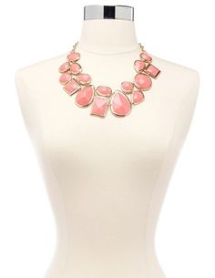 Faceted Gem Statement Necklace: Charlotte Russe