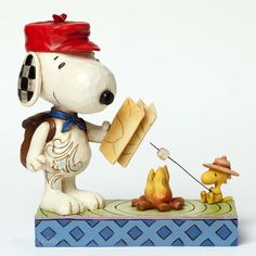 Jim Shore Peanuts Collection Snoopy and Woodstock Campfire 4049414 NEW
