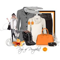 """""""Pop of Pumpkin!"""" by leegal57 on Polyvore"""