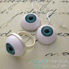 Tilaa korut halloweeniin http://urly.fi/9Zz #halloween #eyeballjewelry #scary