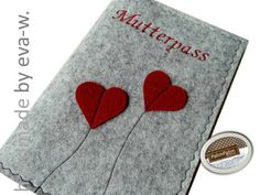 Mutterpass ♥ Herzen ♥ Untersuchungsheft-... von PalimPalim auf DaWanda.com
