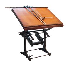 Industrial architect's drawing table.