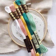 DMC Floss Color Palette (alle kleuren) + borduurringen