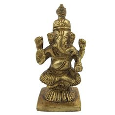 Amazon.com: Goddess Statue Ganesh statues and sculptures metal brass 1.5 x 1.1 x 1.5 Inches: Home & Kitchen