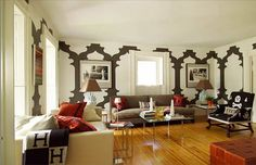 Contemporary living room decorating with wall mount tv home - ikea ...