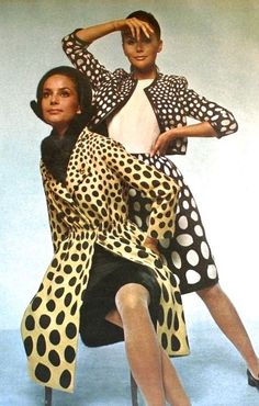 Polka dot fashions by Jacques Heim, 1966