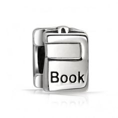 925 Sterling Silver Books Bead Compatible with Pandora Bead Bracelet