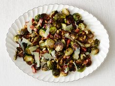 Roasted Brussels Sprouts with Bacon recipe from Anne Burrell via Food Network