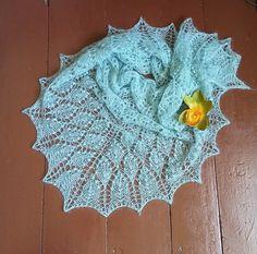 Shawl. Knit shawl. Lace shawl. Lace knit shawl. by Dziergolina