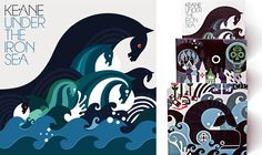 Keane Under the Iron Sea artwork by Sanna Annuka, just love this! Keane, Scandinavian Folk Art, Graphic Design Illustration, Sea Illustration, Cover Art, Cd Cover, Album Covers, Illustrators, Posters