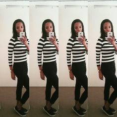 #stripes&denim Stripes, Black And White, Denim, Black N White, Black White, Jeans